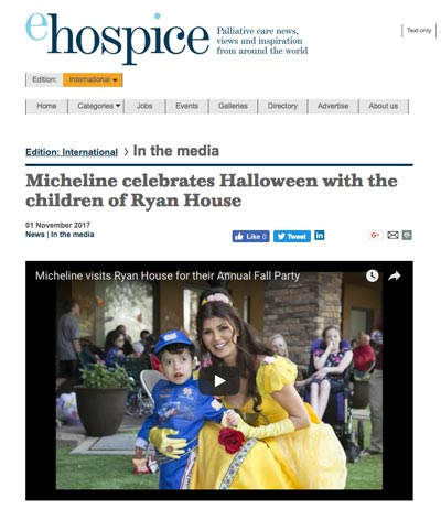 Micheline Celebrates Halloween with Ryan House
